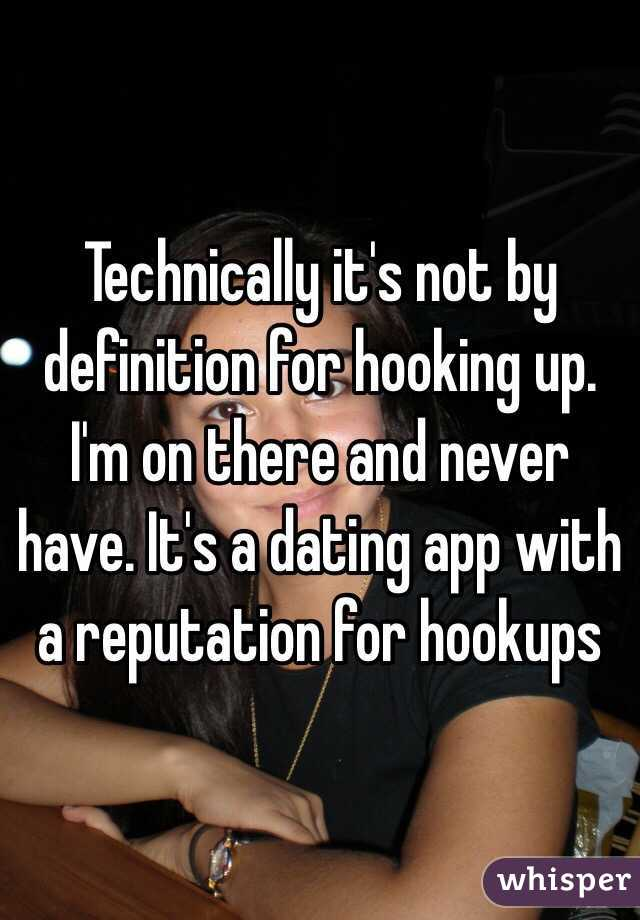 hook up definition dating