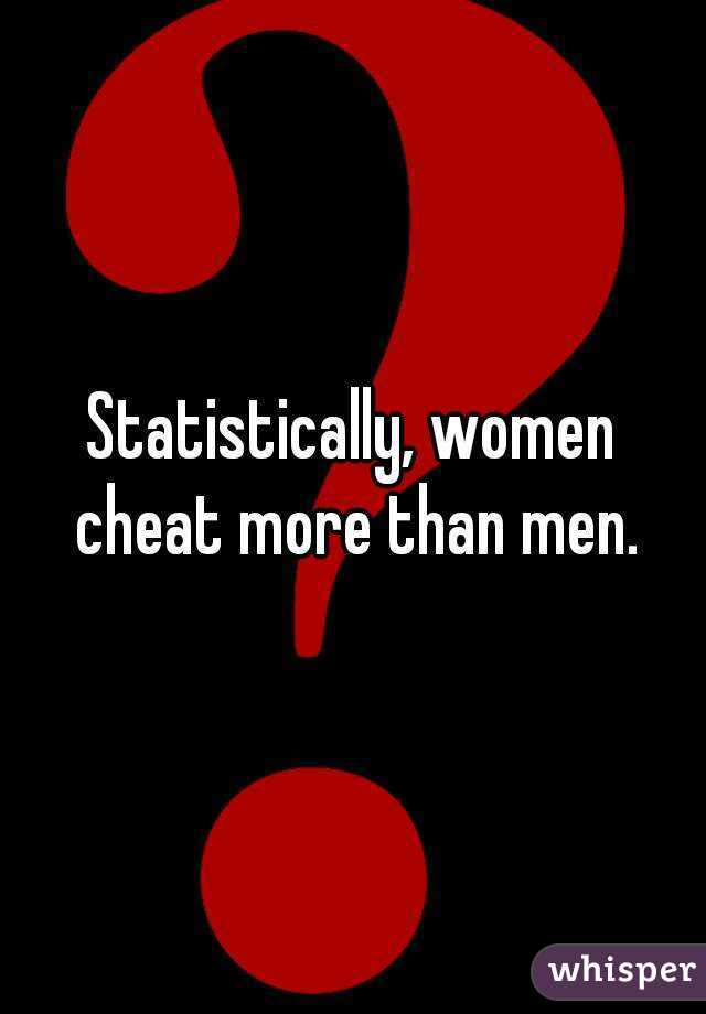 Do women or men cheat more