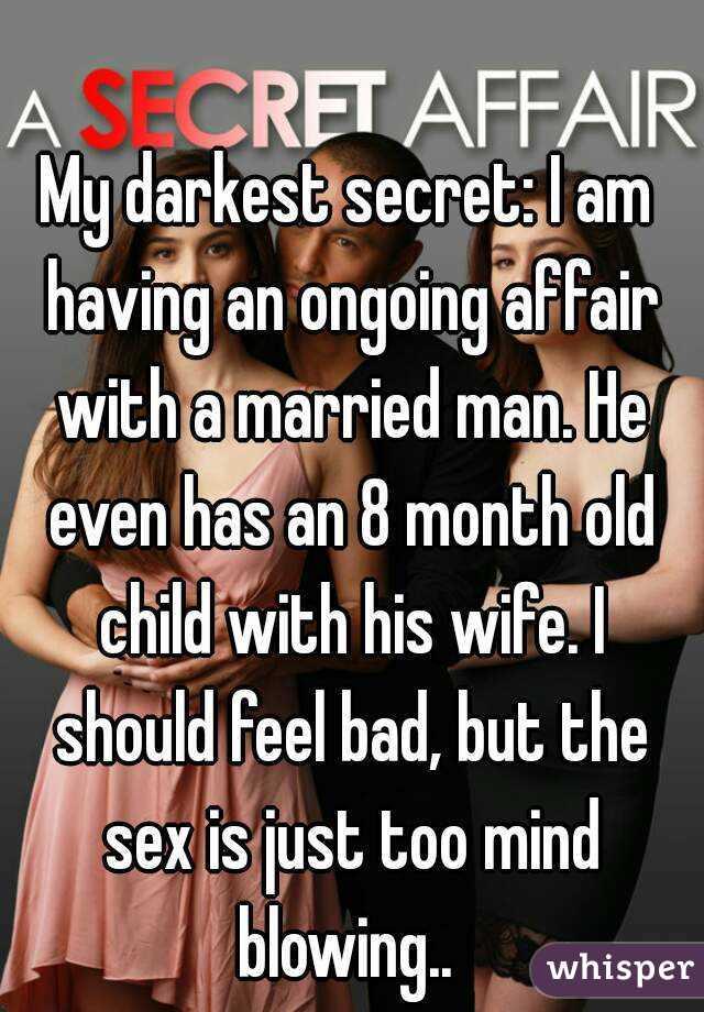 Having An Affair With A Married Man