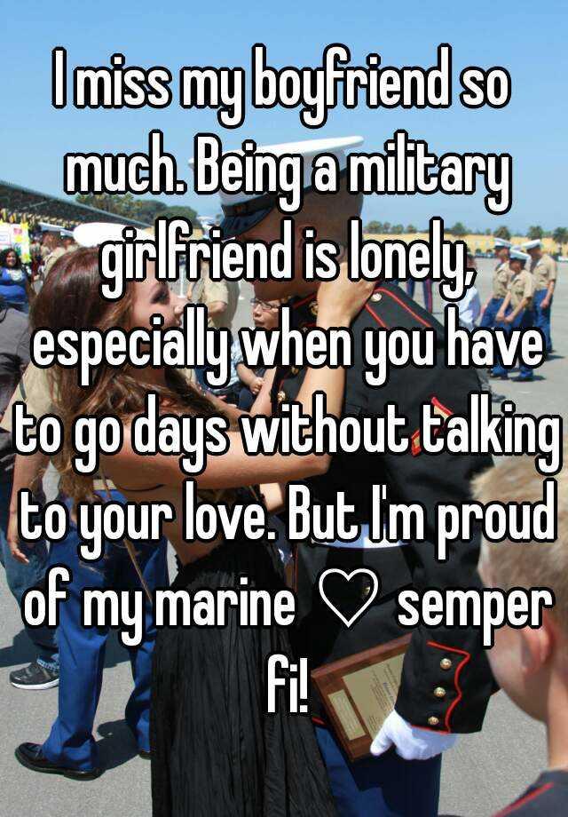 being a marine girlfriend