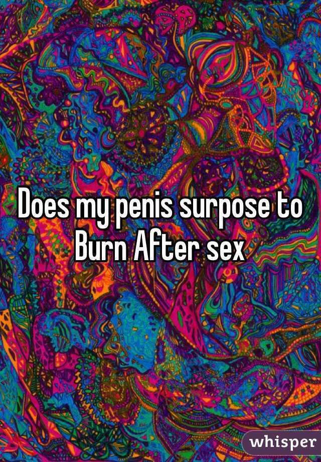 Burn after sex