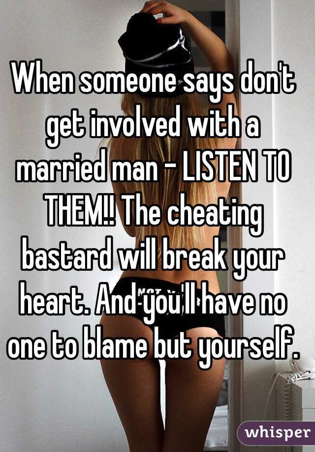 Getting Involved With A Married Man