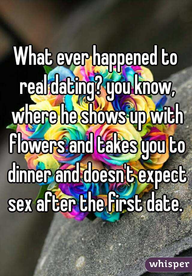 Men that dont expect sex on the first date