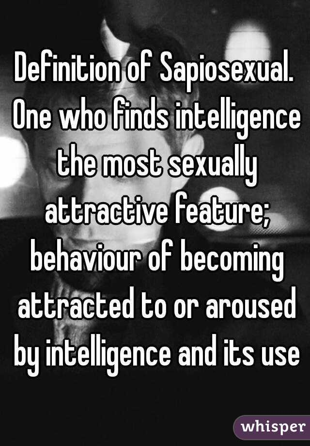 what is a sapiosexual definition