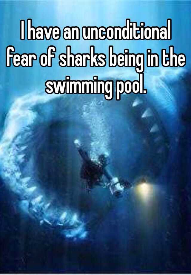 I Have An Unconditional Fear Of Sharks Being In The Swimming Pool