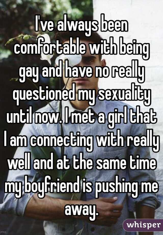 My boyfriend pushed me away sexually