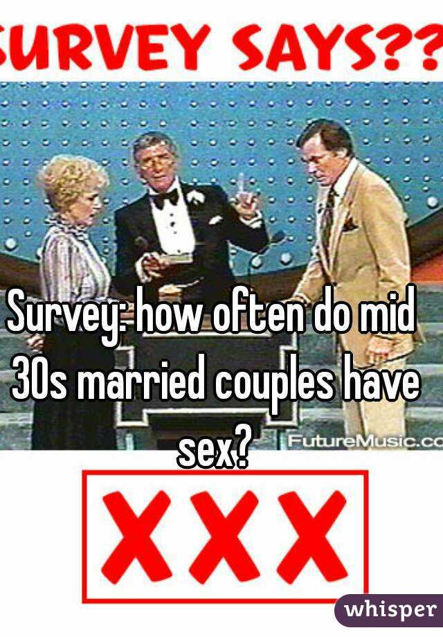 How often to married couples have sex
