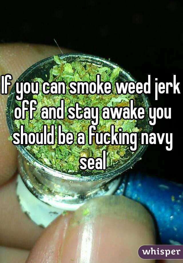If You Can Smoke Weed Jerk Off And Stay Awake You Should Be A Fucking Navy Seal
