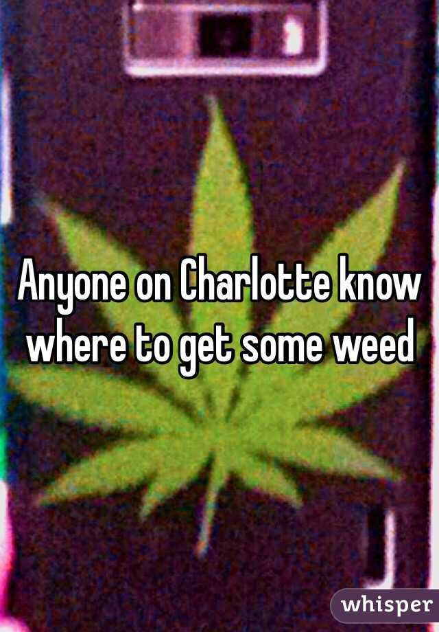 Anyone on Charlotte know where to get some weed