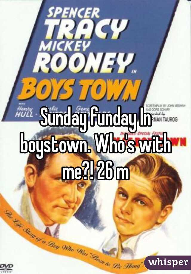Sunday funday In boystown. Who's with me?! 26 m