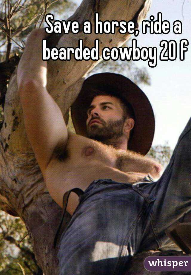 Save a horse, ride a bearded cowboy 20 f