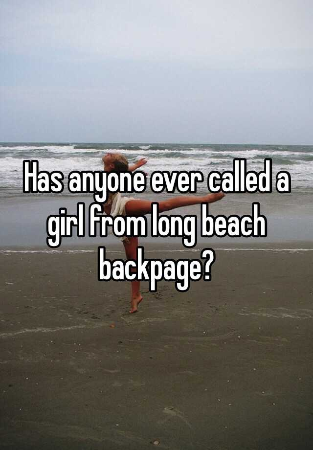 Backpage in long beach