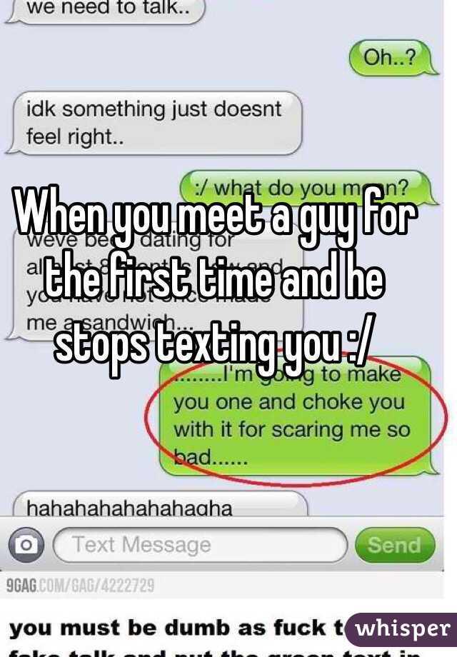 When you first meet a guy