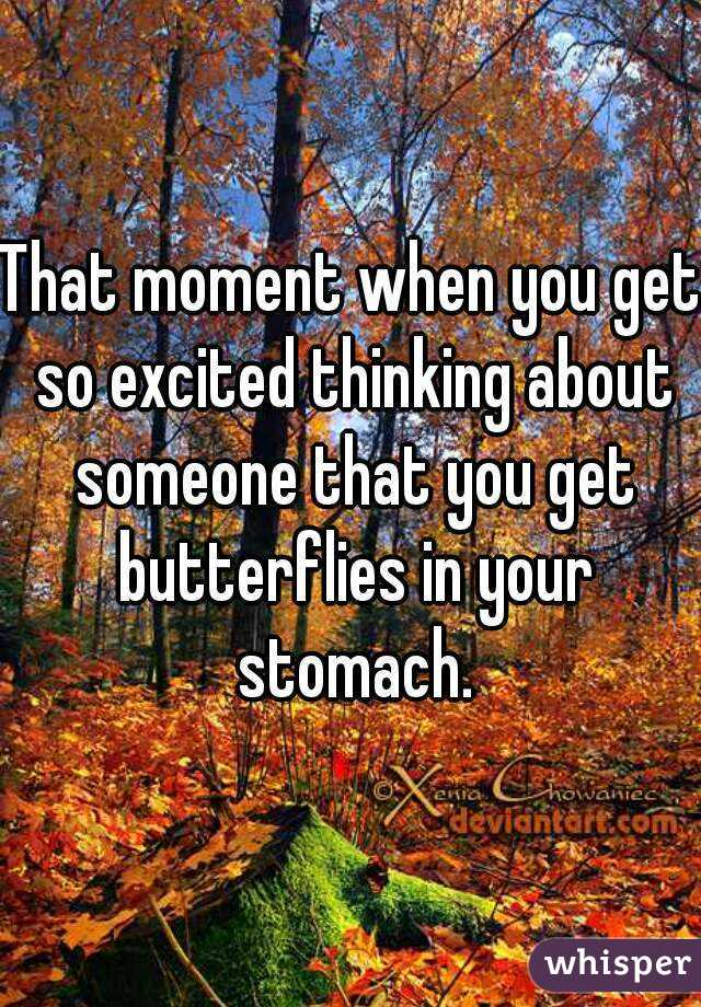 Butterflies In Stomach When Thinking Of Someone
