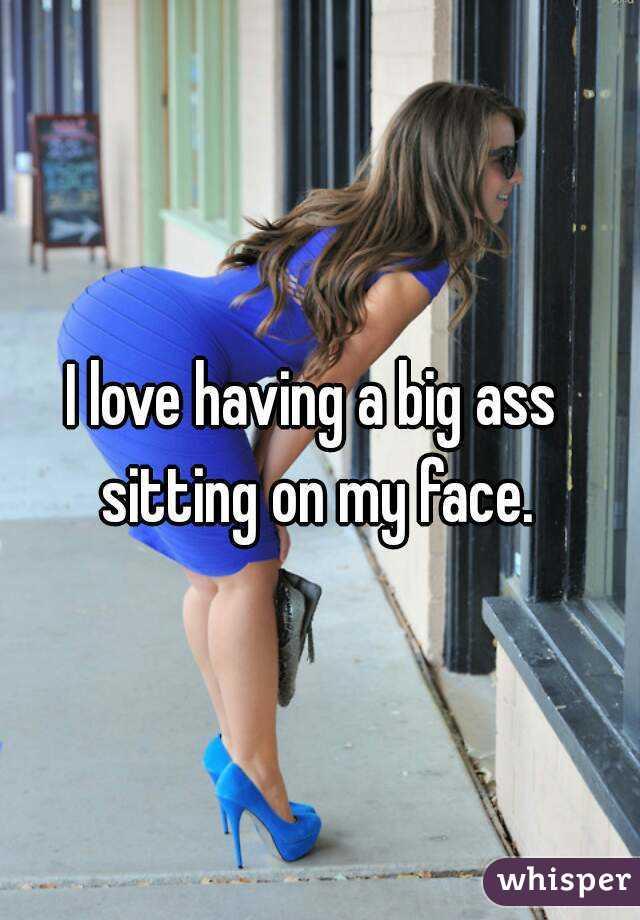 Big ass sits on face