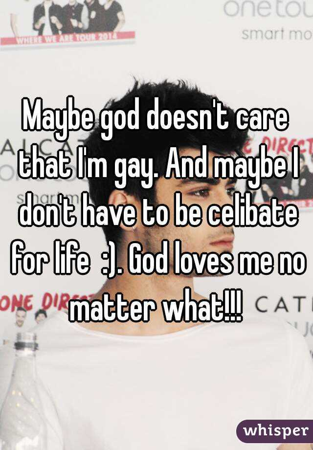 God doesnt care about me
