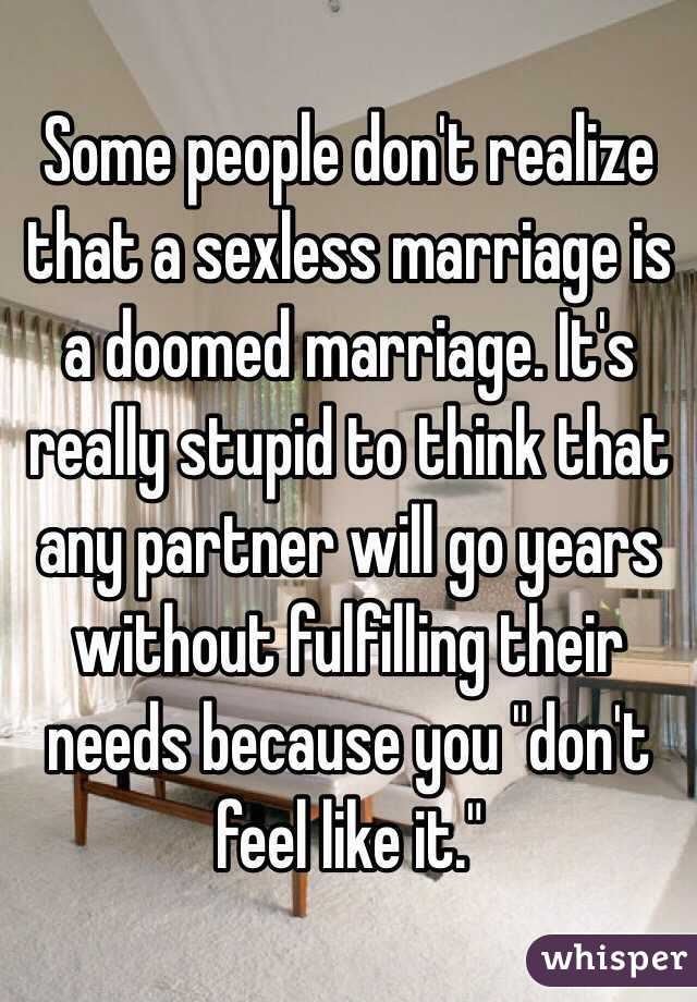 Lonely sexless marriage