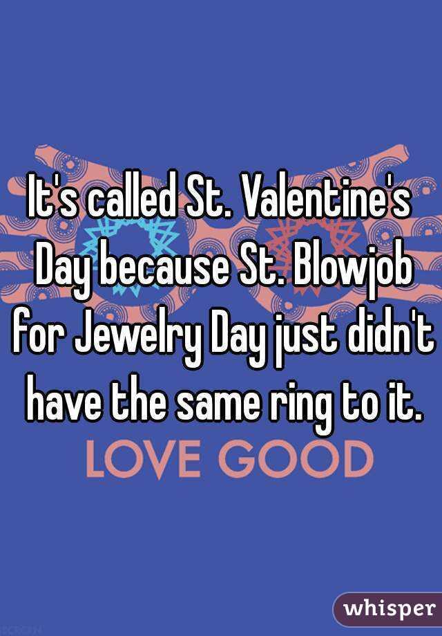 Valentine blow job