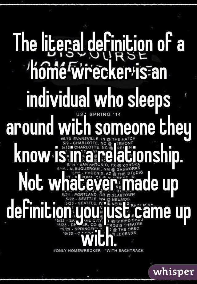 What does homewrecker mean