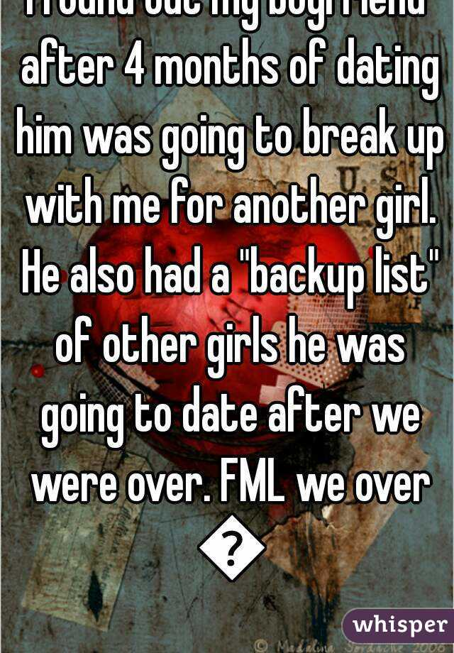 Break up after a month of dating