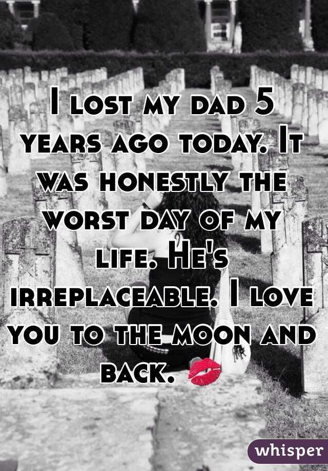 82e86dae864 I lost my dad 5 years ago today. It was honestly the worst day of my ...