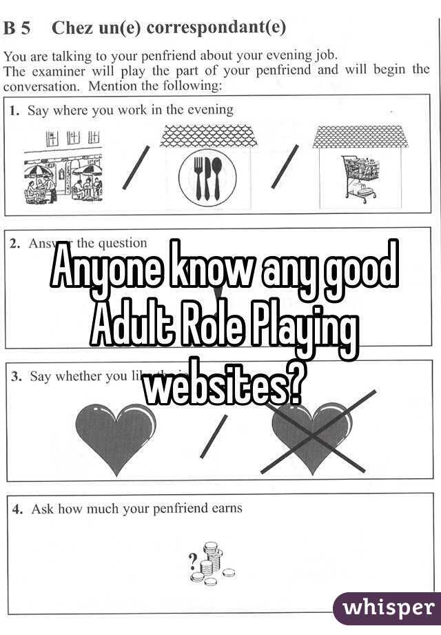 Anyone know any good Adult Role Playing websites?