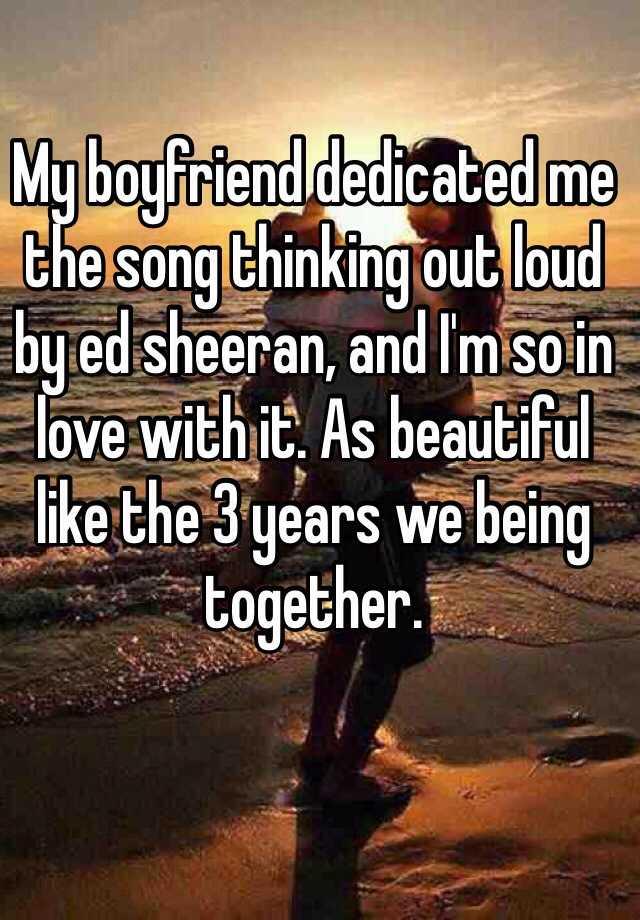 love song dedicated to my boyfriend