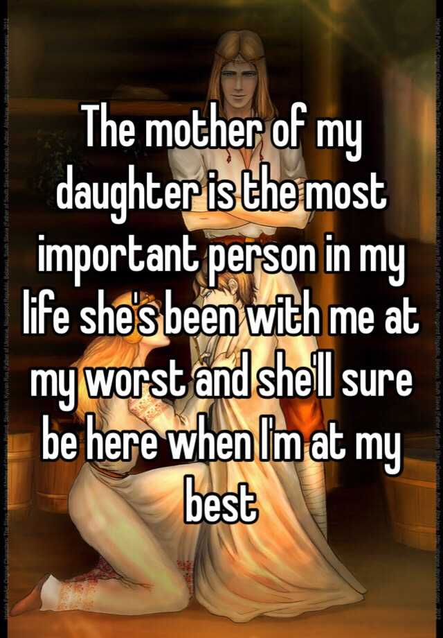 mother the most important person in