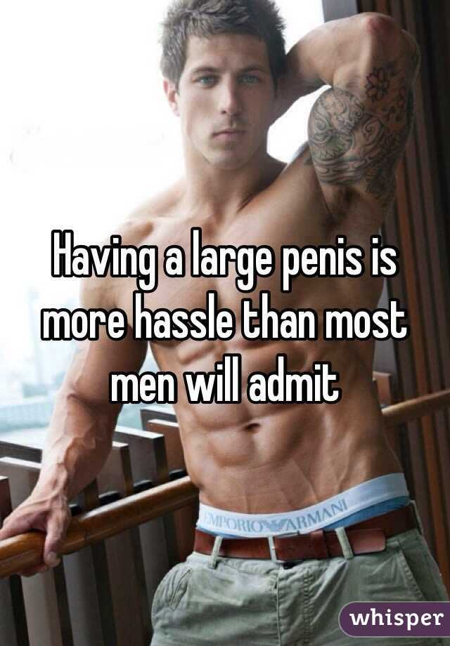Having a large penis