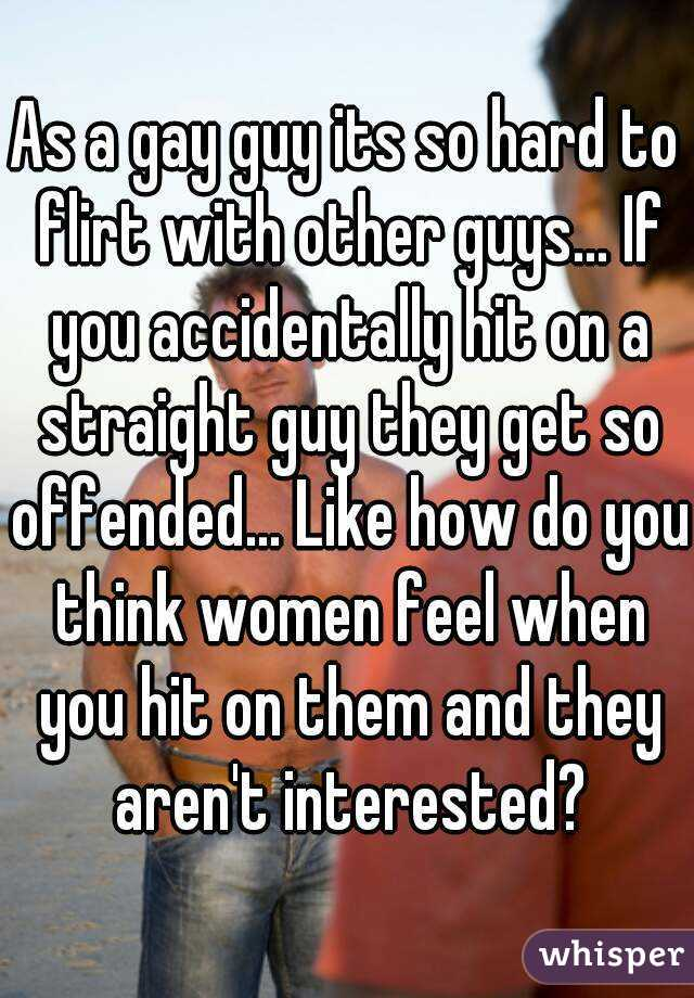 How to flirt with a straight guy