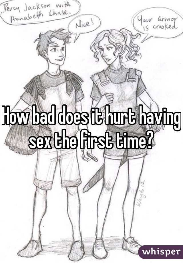 First time having sex hurts