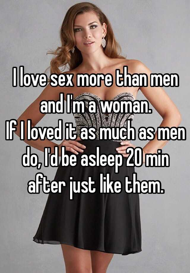 Do women like sex as much as men