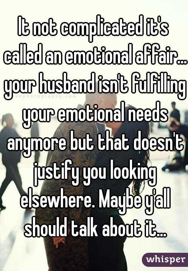 Had An Your Get Emotional Affair How To Over Husband