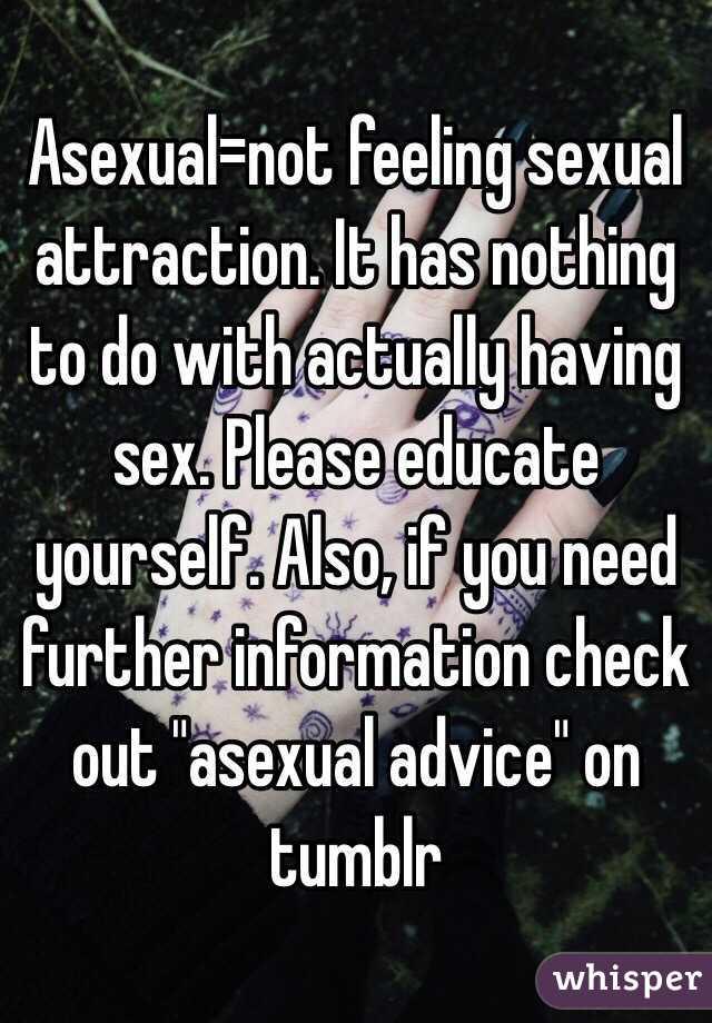 Sexual feelings tumblr