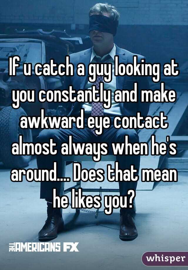 How To Make Eye Contact With A Guy You Like