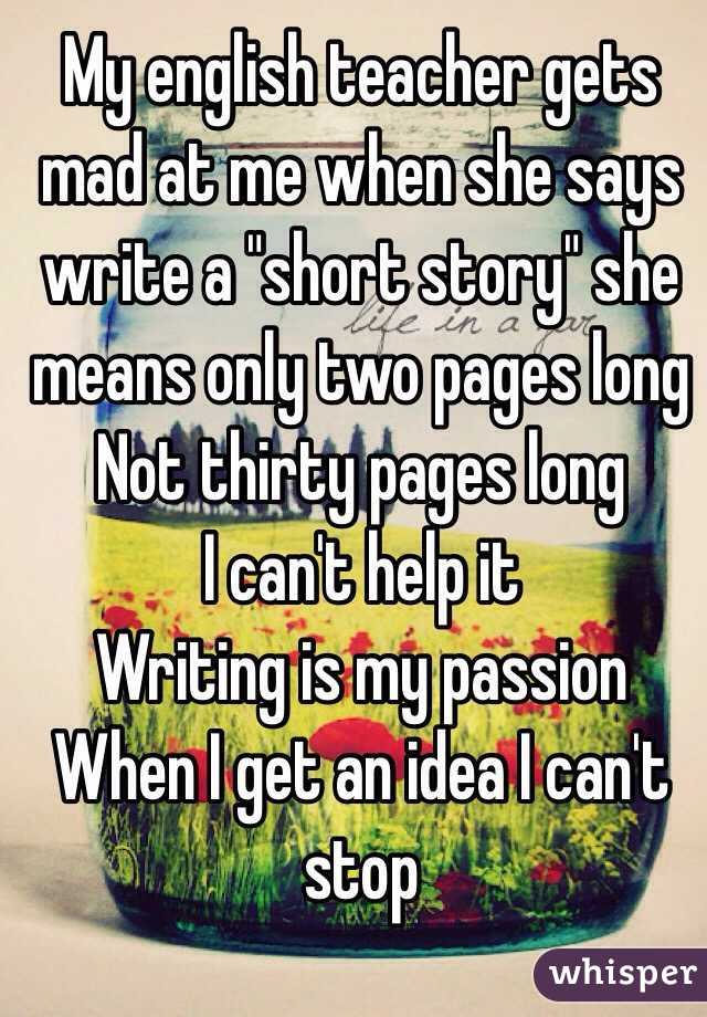 My passion for teaching essay