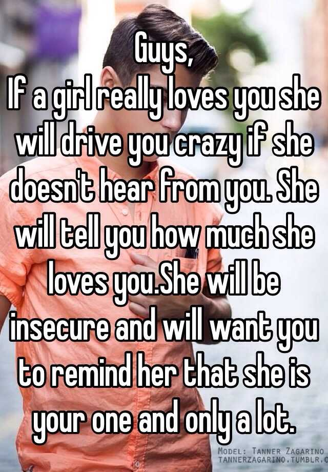 If A Girl Really Loves You