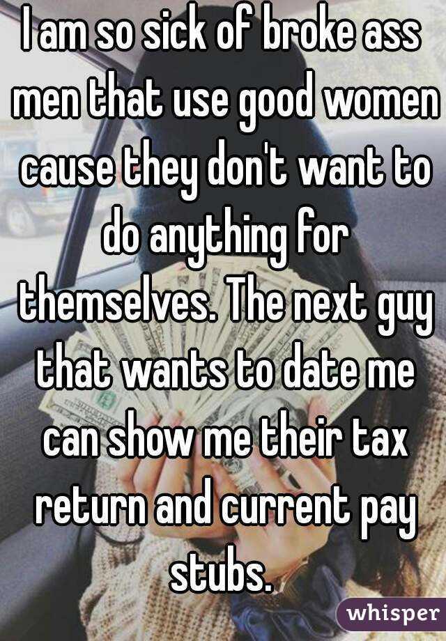 dating a broke man