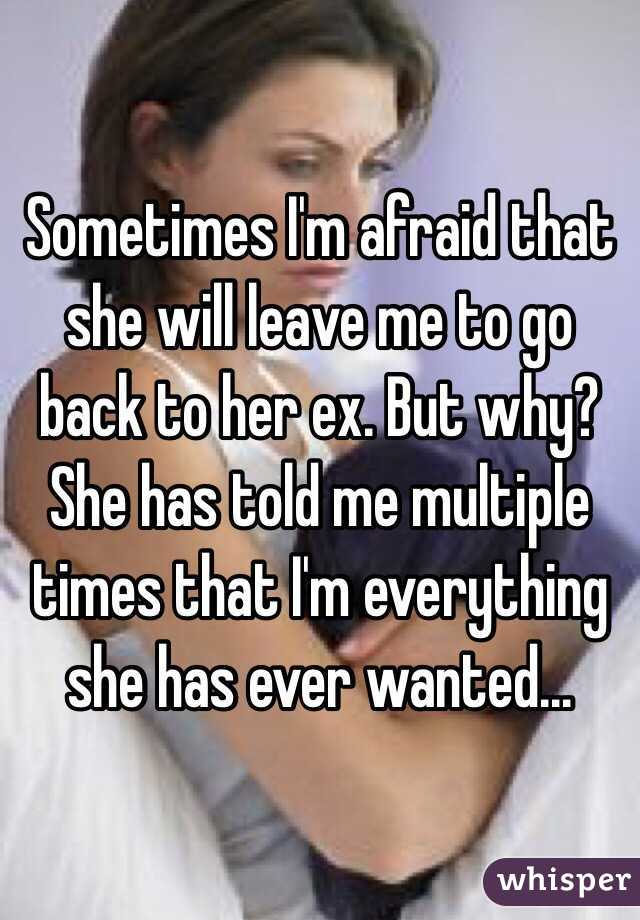 she left me for her ex will she come back