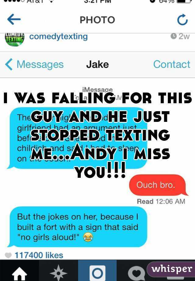 why he stopped texting