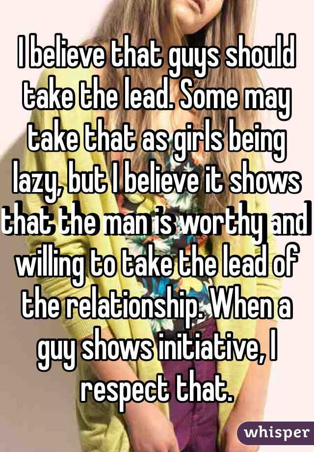 How Does A Man Lead In A Relationship