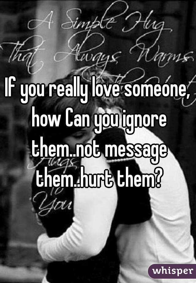 how can you ignore someone