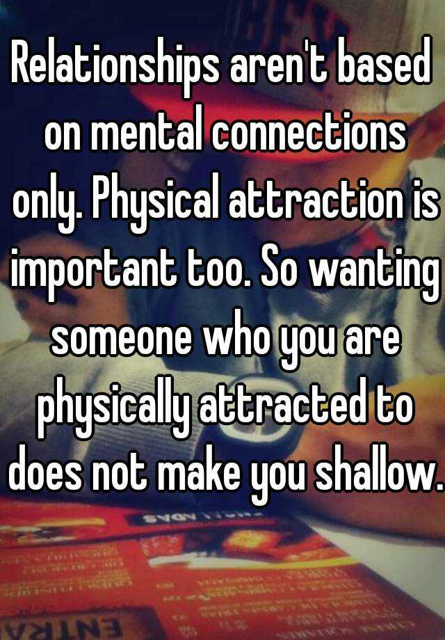 Can you have a good relationship without physical attraction
