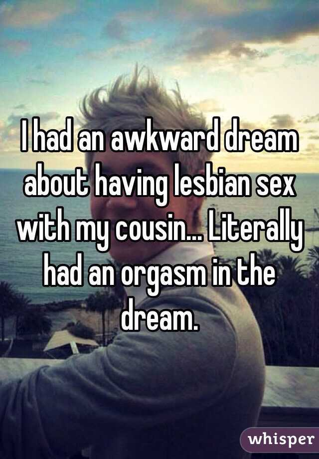 Dreaming of having sex with cousin