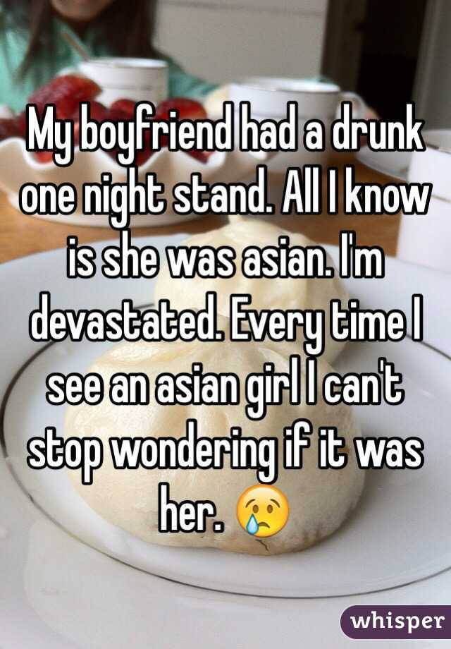 Asian woman is partly