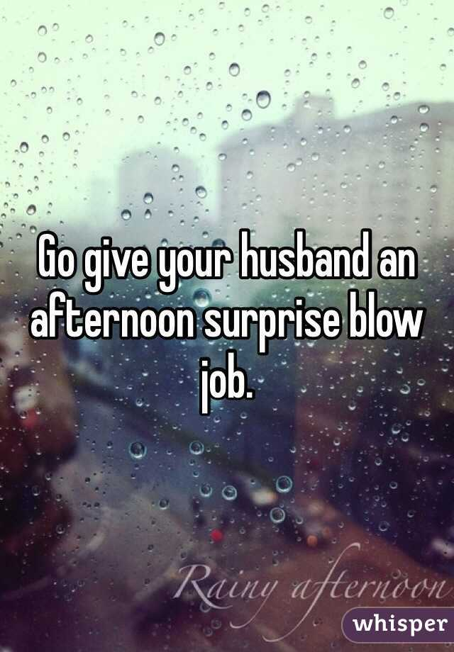 Giving your man a blow job