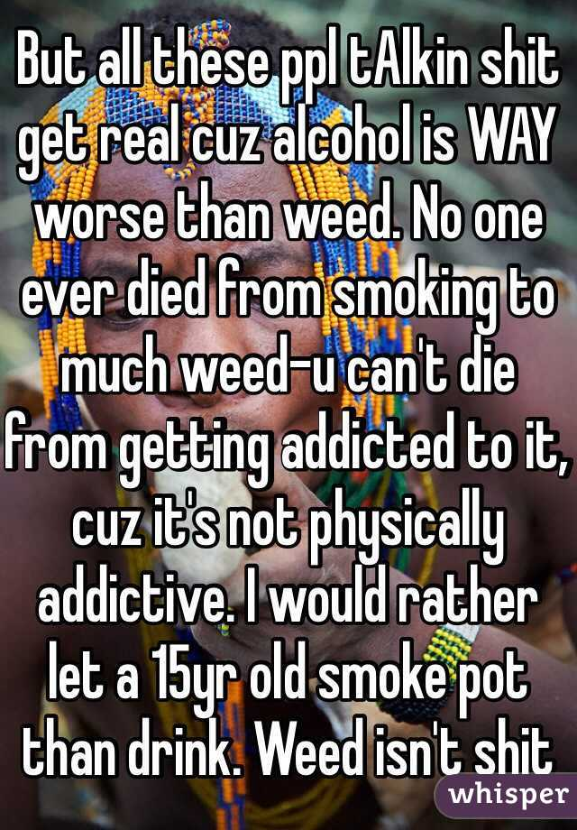 why can t you get addicted to weed