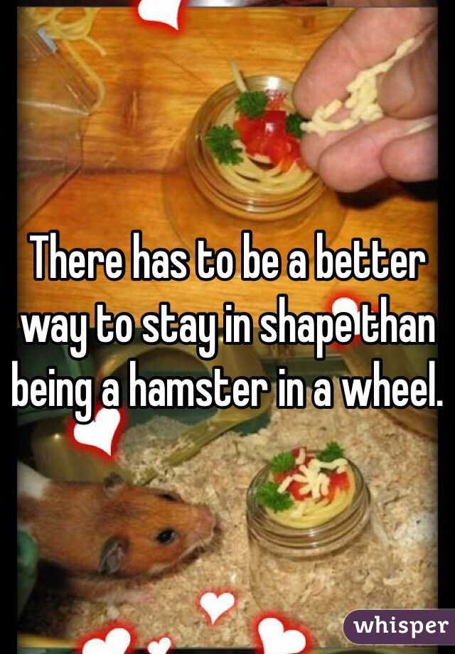 There has to be a better way to stay in shape than being a hamster in a wheel.