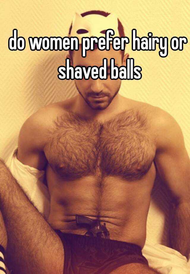 Women that like mens balls shaved