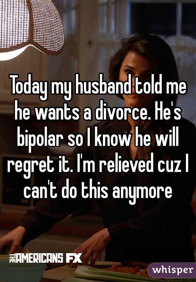 Divorcing a bipolar husband